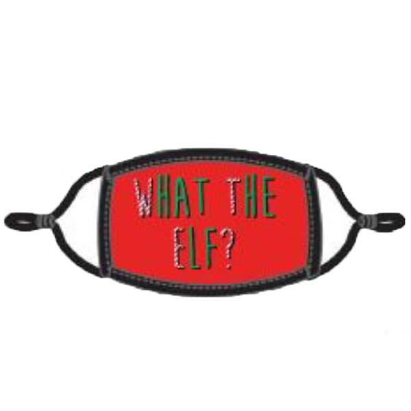 What the Elf Face Mask Red