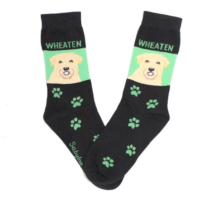 Wheaten Dog Crew Socks