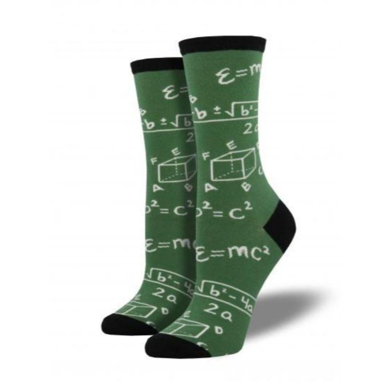 Math Socks Women's Crew Sock Green