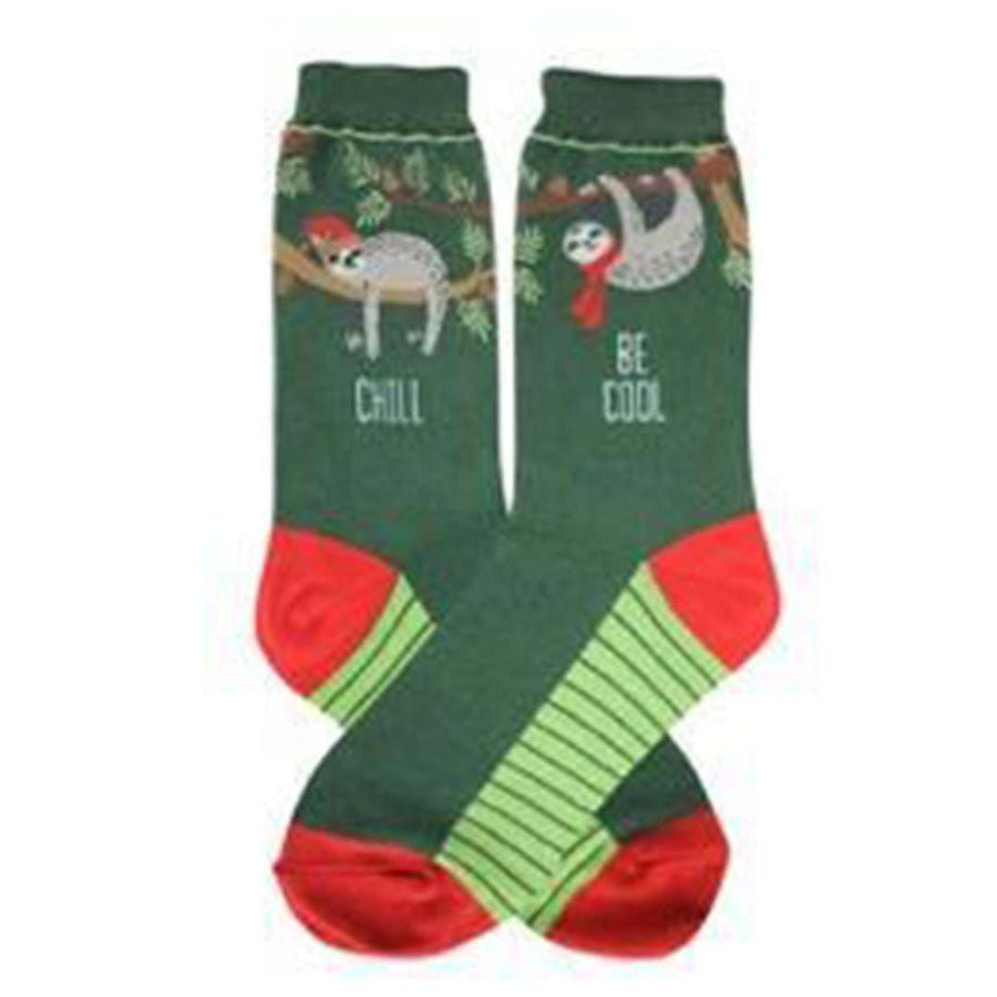 Holiday Sloth Socks for Women