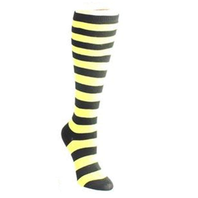 Bold Striped Socks Women's Knee High Sock Yellow and black