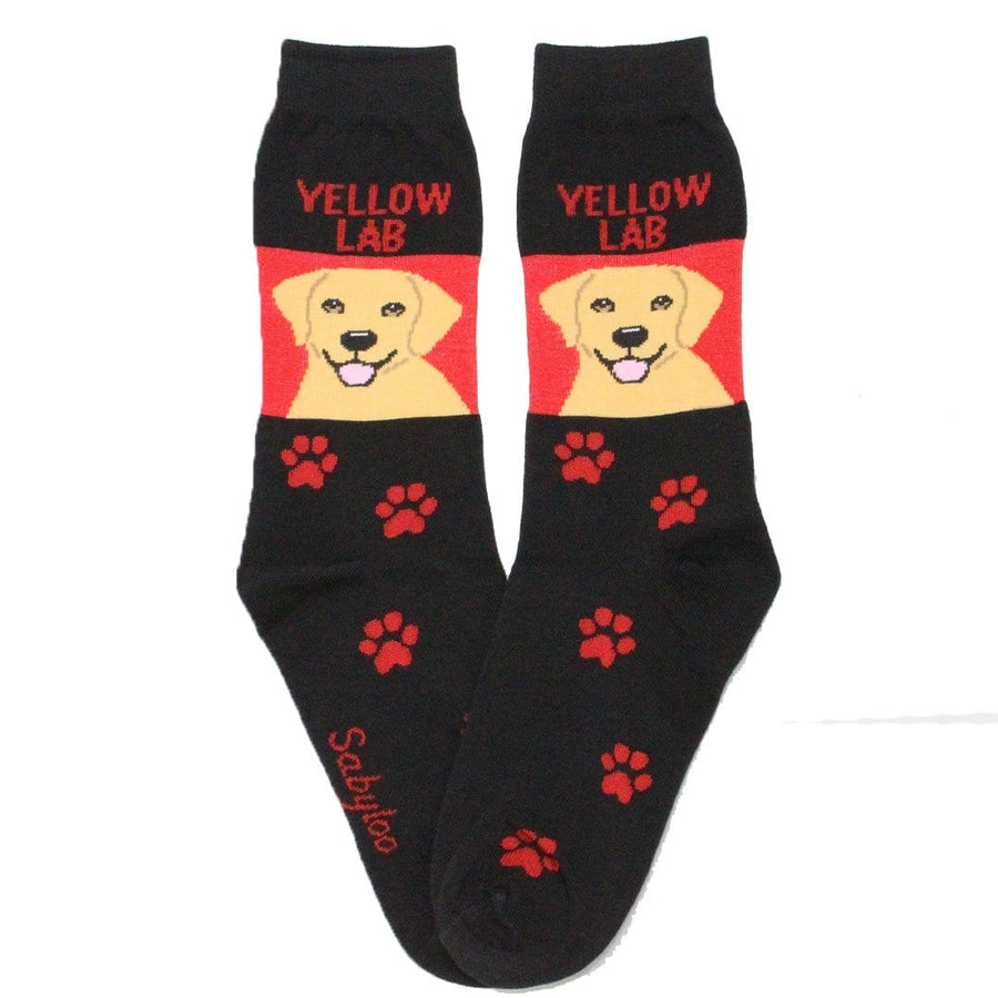Yellow Lab Dog Crew Socks