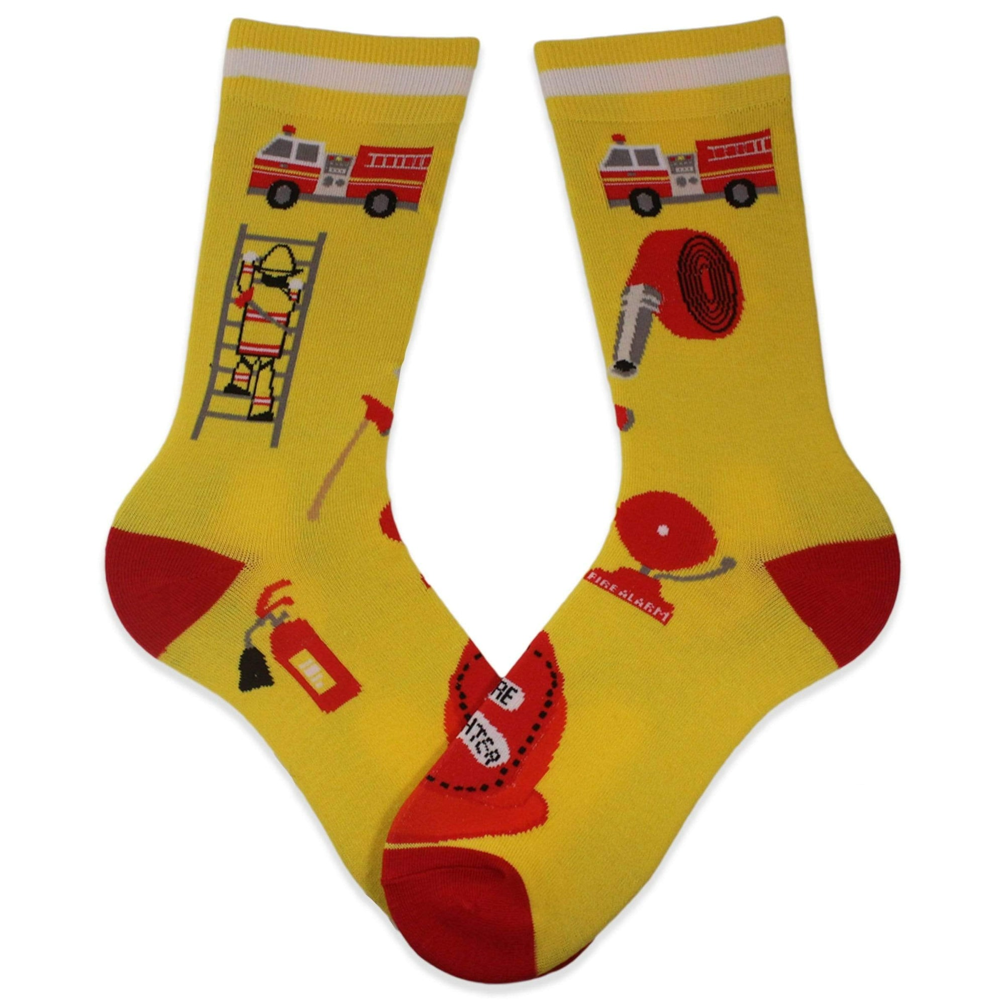 Firefighter Tribute Socks Yellow / Women's