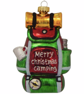 Christmas Backpack Figurine Ornament