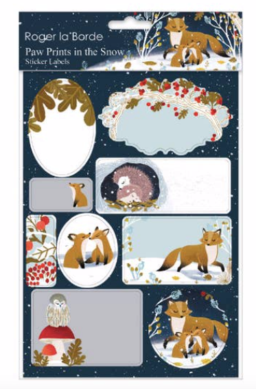 Frosty Forest Sticker Labels Sheet