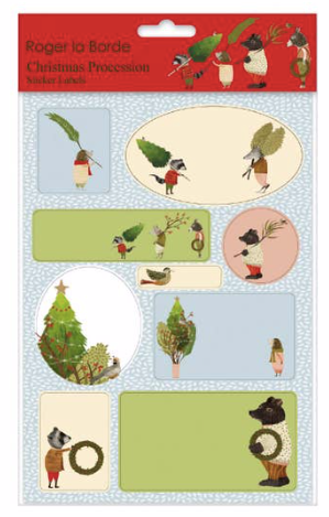 Christmas Procession Sticker Labels Sheet