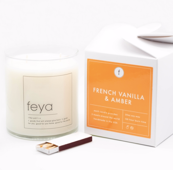 French Vanilla & Amber Candle