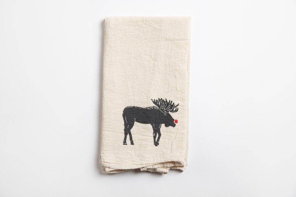 Red Nose Moose Towel
