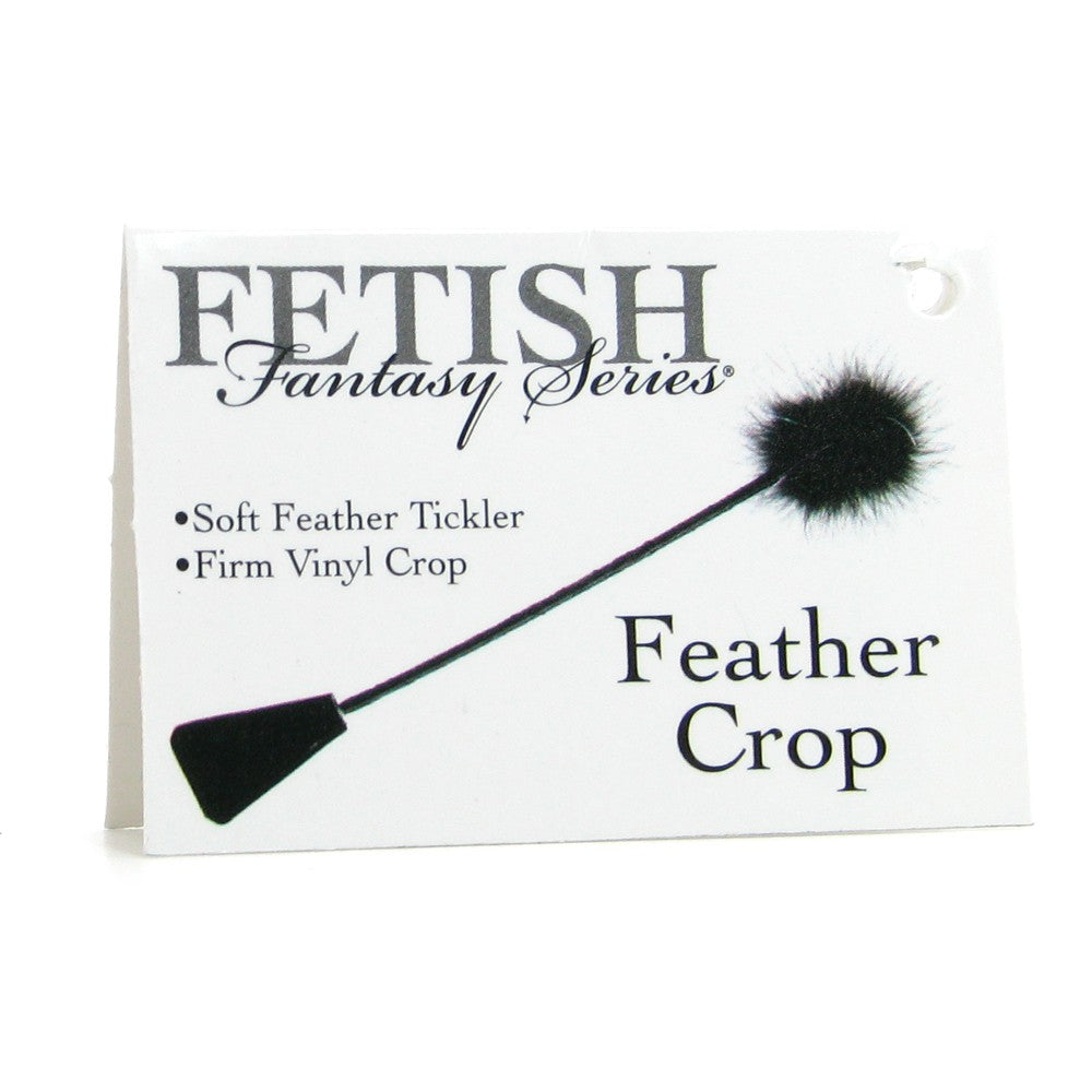 Fetish Fantasy Feather Crop in Black