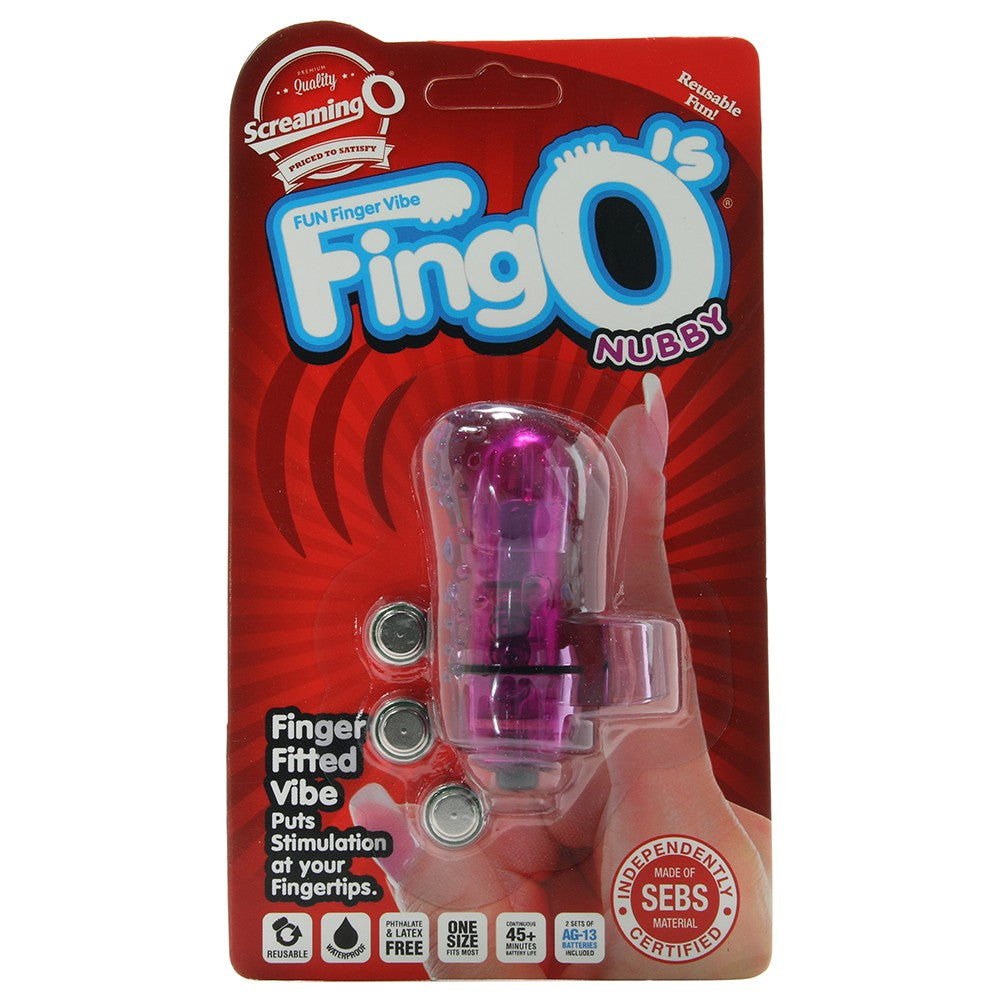FingO Fun Finger Nubby Vibe in Purple