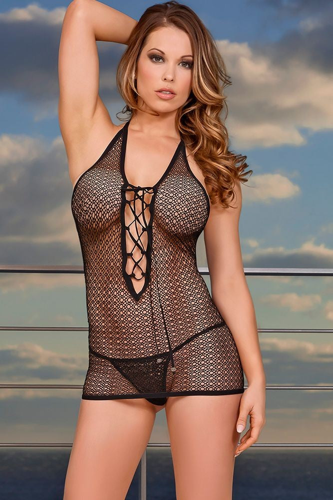 Dreamcatcher Chemise & G-String in S/M