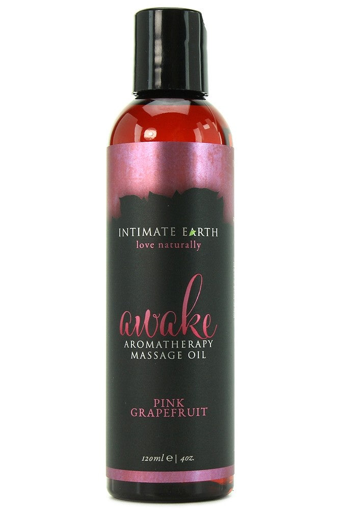 Awake Pink Grapefruit Massage Oil in 4oz/120ml