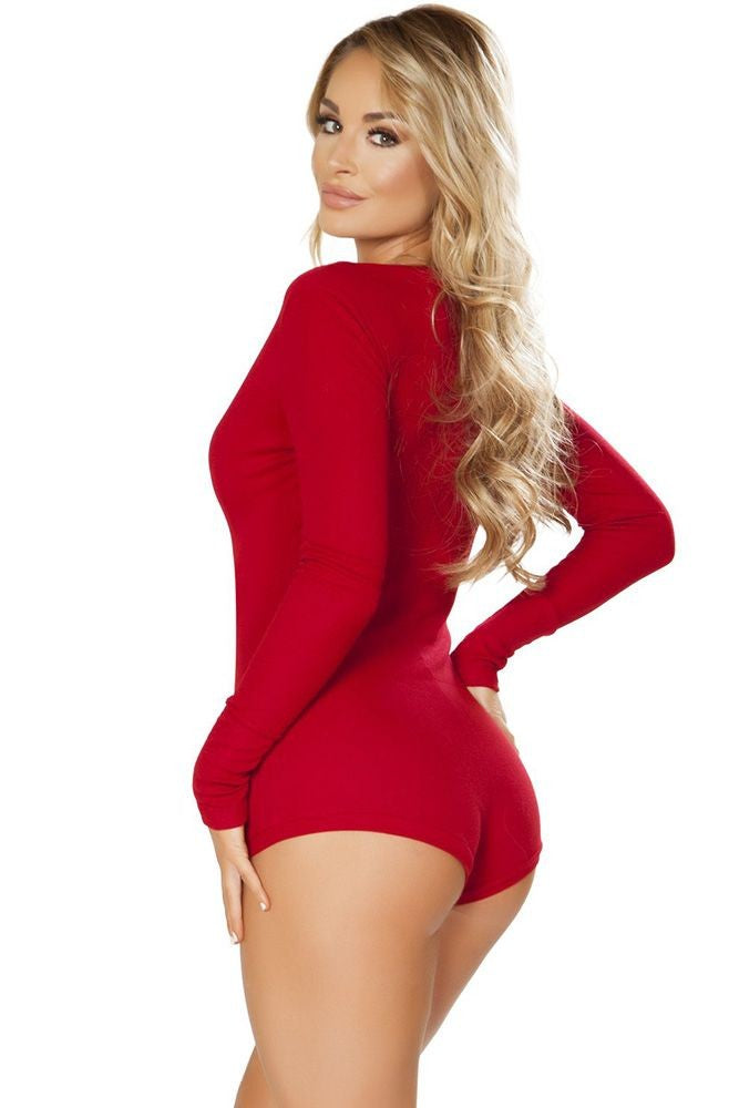 Comfy Cozy Red Romper in L/XL