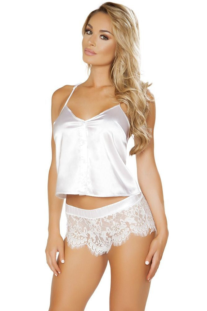 Counting Sleep White PJ Set in L/XL