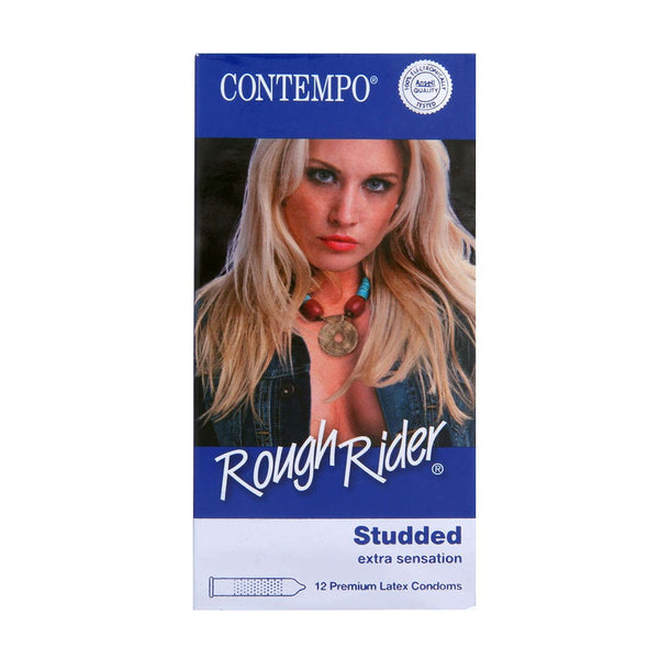 Rough Rider Studded Condoms in 3 Pack