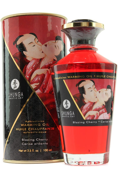 Aphrodisiac Warming Oil 3.5oz/100ml in Blazing Cherry