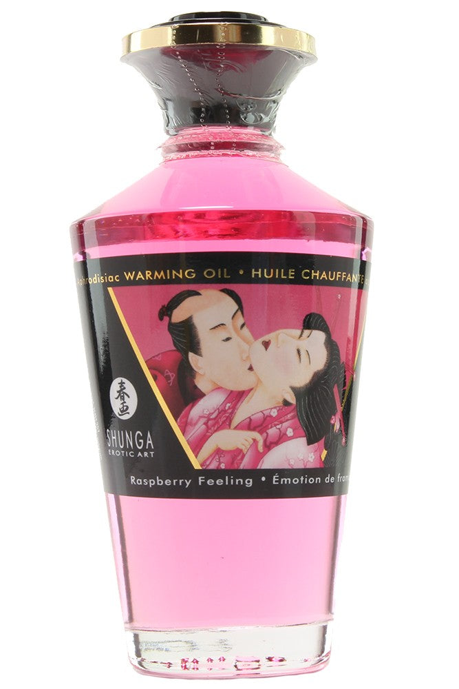 Aphrodisiac Warming Oil 3.5oz/100ml in Raspberry Feeling