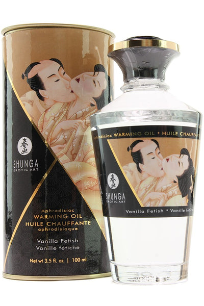 Aphrodisiac Warming Oil 3.5oz/100ml in Vanilla Fetish