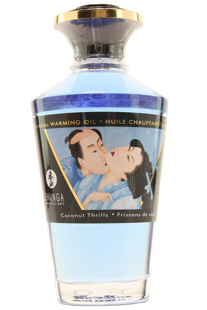 Aphrodisiac Warming Oil 3.5oz/100ml in Coconut Thrills