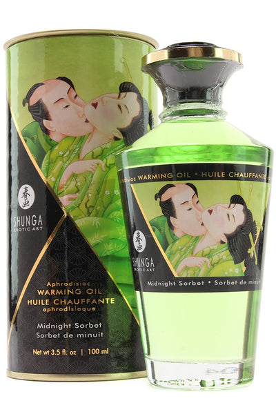Aphrodisiac Warming Oil 3.5oz/100ml in Midnight Sorbet