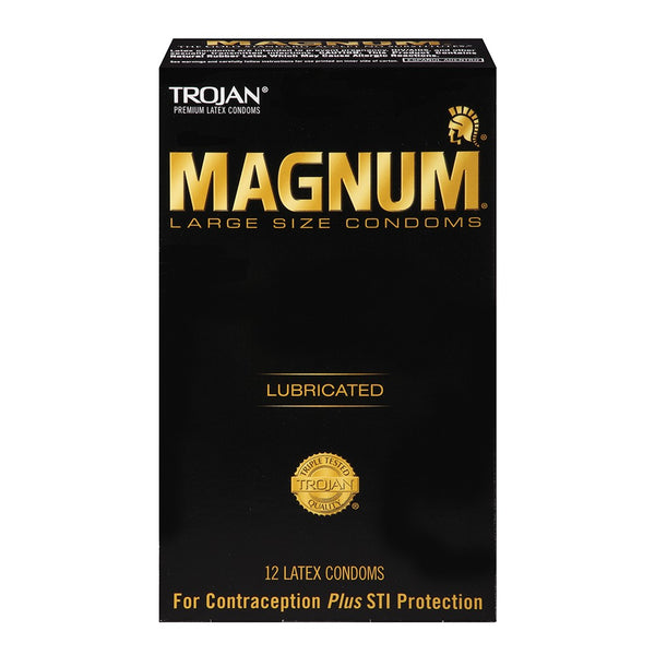 Trojan Magnum Lubricated Condoms in 12 Pack