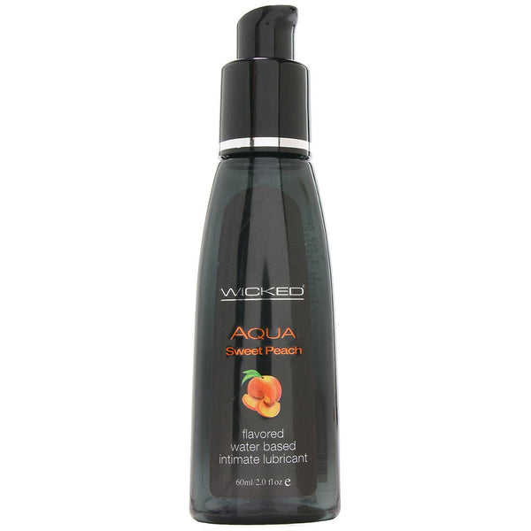 Aqua Sweet Peach Flavored Lube in 2oz/60ml