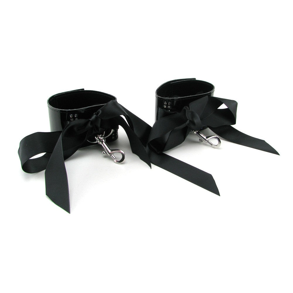 Bound by Diamonds Ribbon Wrist Cuffs
