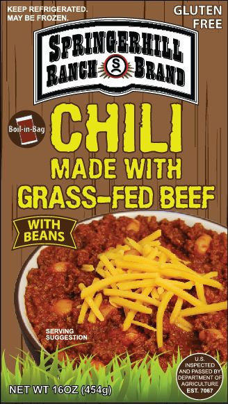 Springerhill Ranch Grass Fed Beef Chili with Beans (16 oz.)