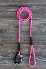 Pink with Purple and Teal Tracer Climbing Rope Leash