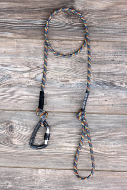 Grey Rainbow Climbing Rope Leash