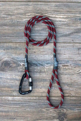 Maroon with Teal Tracer Climbing Rope Leash