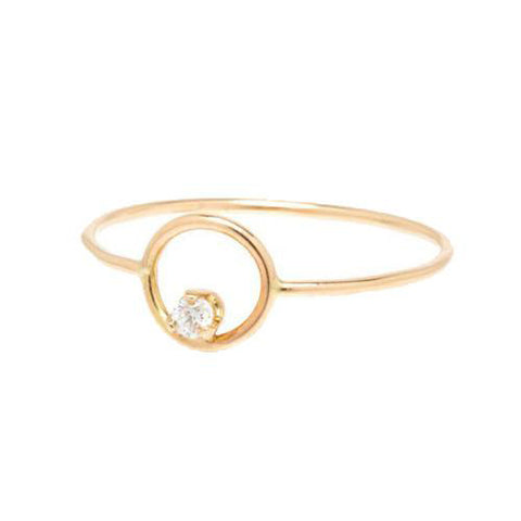 14K Eye of God Diamond Ring, God's Eye Diamond Ring, Eversmart Beauty