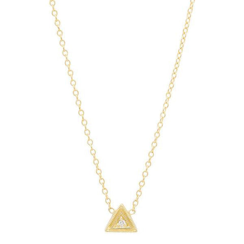 14K Gold Trinity Birthstone Necklace, Heaven Culture Trinity Diamond Necklace, Heaven Culture Jewelry