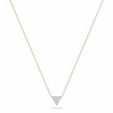 14k Gold Trinity Diamond Necklace, Trinity Necklace, Heaven Culture Jewelry