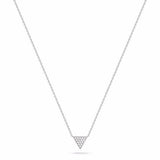 14k White Gold Trinity Diamond Necklace, Trinity Necklace, Heaven Culture Jewelry
