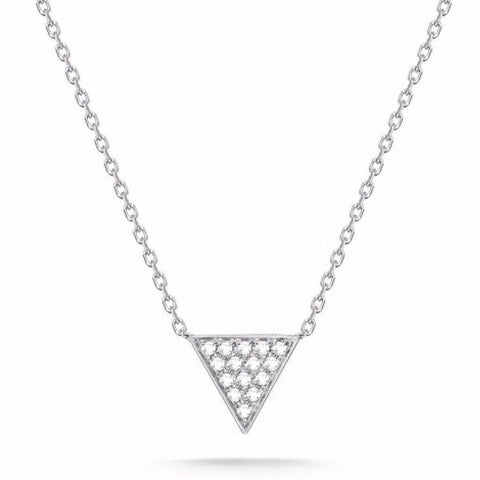 14k White Gold Trinity Diamond Necklace, Trinity Necklace, Eversmart Beauty