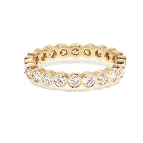 14K Gold 5PT Diamond Eternity Heaven Culture Ring, Heaven Culture Eternity Diamond Ring, Eversmart Beauty