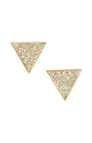 14K Gold Diamond Trinity Stud Earrings, Heaven Culture Trinity Earrings, Heaven Culture Jewelry