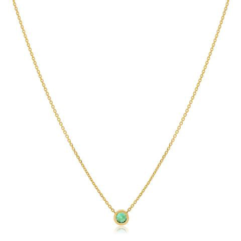14K Gold Emerald Throne Room Necklace, , Eversmart Beauty