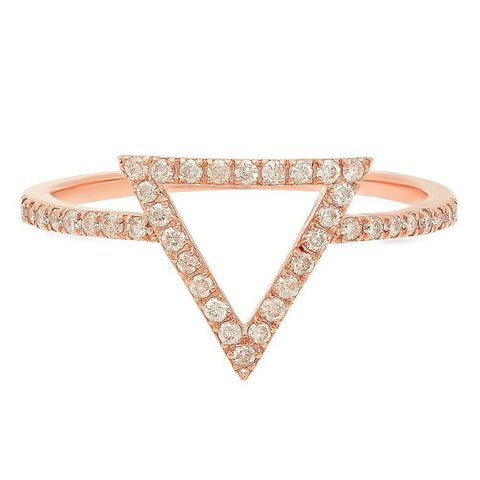 14k Rose Gold Trinity Diamond Heaven Culture Ring, Trinity Diamond Heaven Culture Ring, Heaven Culture Jewelry