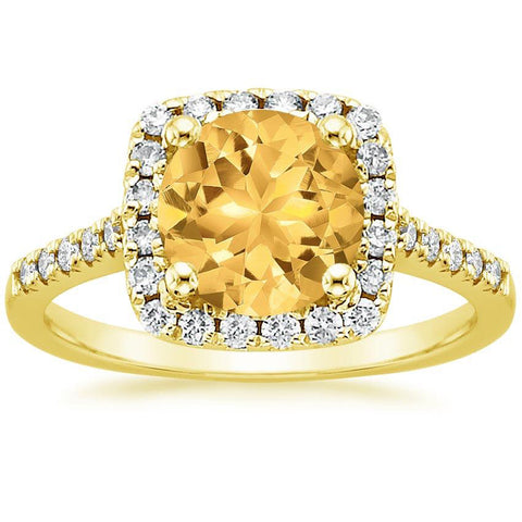 14K Heaven's Yellow Diamond Ring, Heaven Culture Ring, Eversmart Beauty