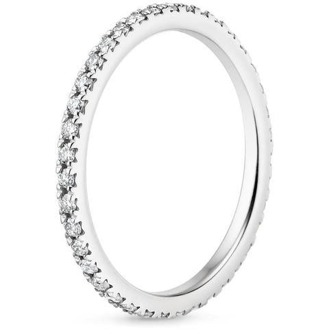 14K White Gold Eternity Diamond Heaven Culture Ring (3/8 CT. TW.), Heaven Culture Diamond Eternity Ring, Eversmart Beauty