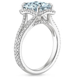 14K White Gold Crystal Sea Ring, Heaven Culture Ring, Eversmart Beauty