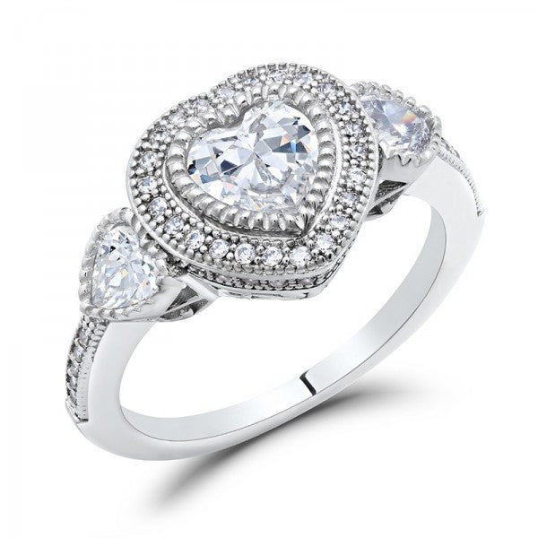 Heart Swarovski® Diamond Ring, Swarovski Rings, Eversmart Beauty