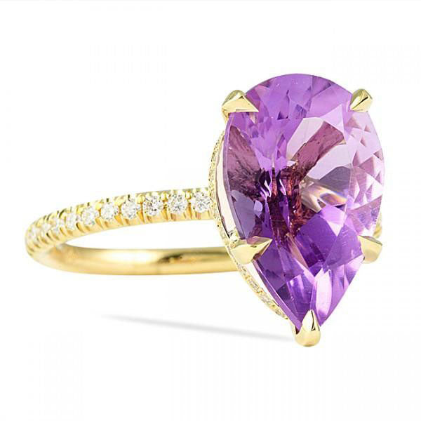 3.75 Carat Heaven's Color of Royalty Ring, Gemstone Ring, Eversmart Beauty