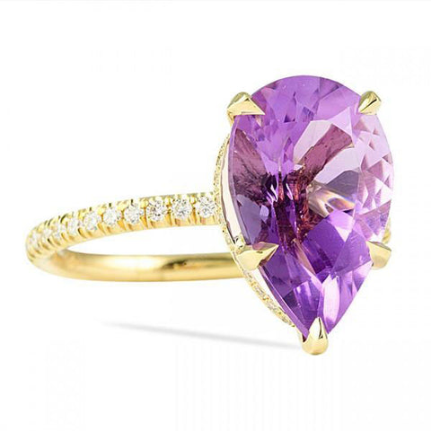 3.75 Carat Heaven's Color of Royalty Ring, Gemstone Ring, Heaven Culture Jewelry