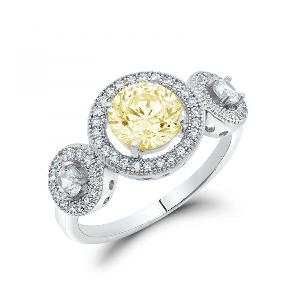 Yellow Swarovski® Diamond Affordable Engagement Ring, Swarovski Rings, Heaven Culture Jewelry