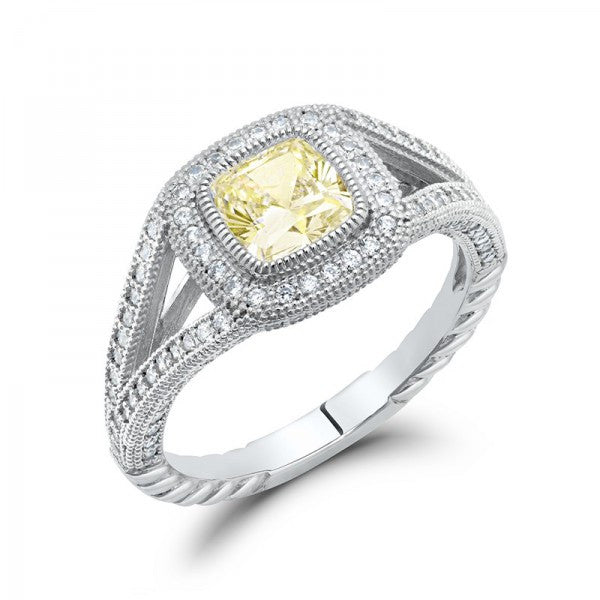 Yellow Swarovski® Diamond Affordable Engagement Ring