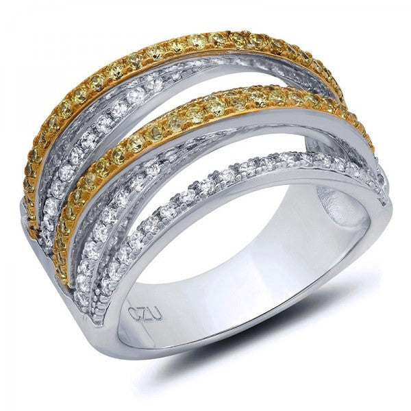 Gold & Platinum Plated Swarovski® Crystal Ring, Swarovski Rings, Eversmart Beauty