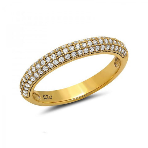 Gold Plated Swarovski® Diamond Ring, Swarovski Rings, Heaven Culture Jewelry